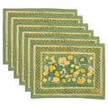 Couleur Nature Fruit Placemat (Set of 6); Yellow