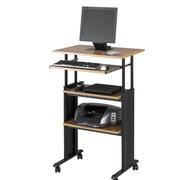 Safco Products MUV Adjustable Stand-Up Workstation; Medium Oak