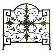 Woodland Imports Single Panel Metal Fireplace Screen