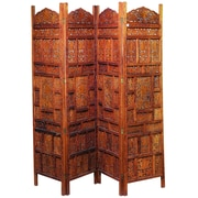 Woodland Imports 72'' x 72'' Decorative 4 Panel Room Divider