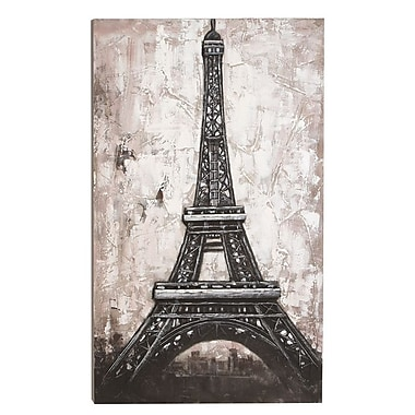 Woodland Imports Eiffel Tower Framed Painting Print on Wrapped Canvas