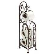 Woodland Imports Free Standing Toilet Paper Holder; Bronze