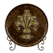 Woodland Imports Decorative Metal Plate with Stand