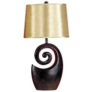 Woodland Imports Swirly 27'' H Table Lamp with Empire Shade