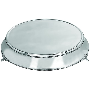 Woodland Imports Stainless Steel Cake Stand