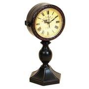 Woodland Imports Metal Tabletop Clock
