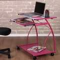 Studio Designs L-Cart Computer Table; Pink / White