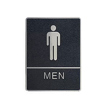 Men Washroom Sign with Braille, 6