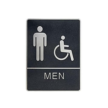 Men/Wheelchair Accessible Restroom Sign, 6