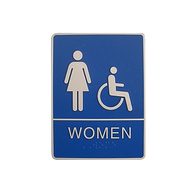 Women/Wheelchair Accessible Restroom Sign, 6
