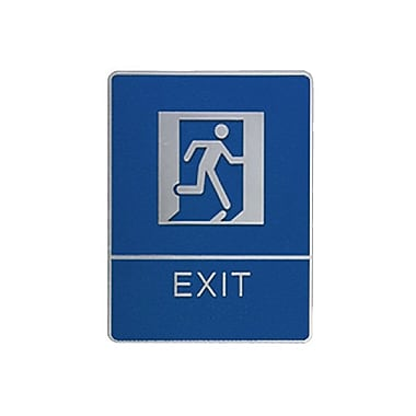 Exit Sign with Braille, 6