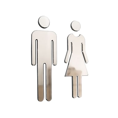 Male/Female Washroom Set, Chromed Plastic