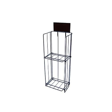 2 Tier Newspaper Stand, Black