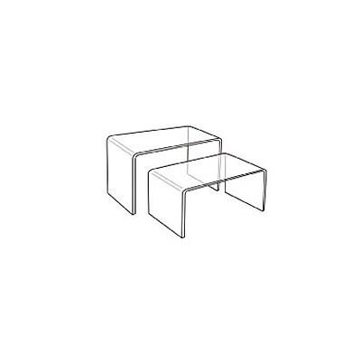 Acrylic Rectangular Riser Set of 2, 3/Pack (37-1057)