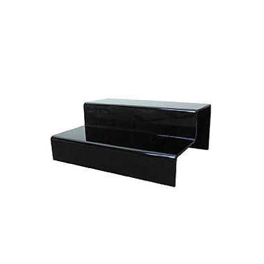 2-Tier Acrylic Step Riser, Black