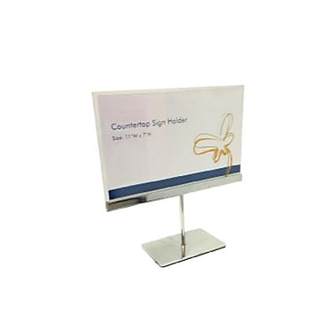 Acrylic Countertop Sign Holder with Base, 2/Pack