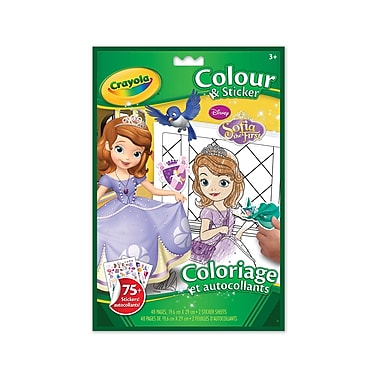 Crayola® Colour 'n Sticker Book, Sofia the First, 12/Pack