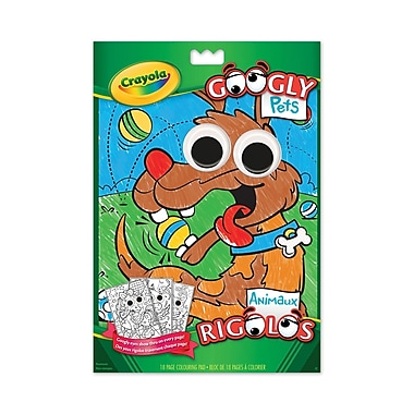 Crayola® Googly Pets Colouring Pad, 12/Pack