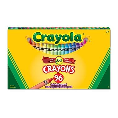 Crayola® - Crayons de cire, boîte à patte rentrante, 96 par boîte, paq./6