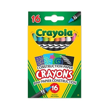 Crayola® Construction Paper crayons, 16 per Box, 8/Pack