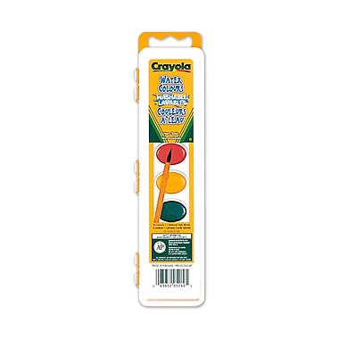 Crayola® Washable Watercolours, 8 per Packages, 12/Pack