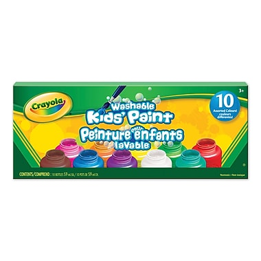 Crayola® Washable Kids' Paint, 10 per Box, 6/Pack