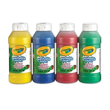 Crayola® Washable Paint, 4 per Packages, 4/Pack