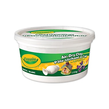 Crayola® Air Dry Clay 1.13 kg Bucket, ,White, 3/Pack