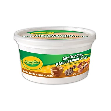 Crayola® Air Dry Clay, 1.13 kg Bucket, Terra Cotta, 3/Pack
