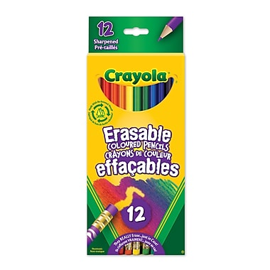 Crayola® Erasable Coloured Pencils, 12 per Box, 12/Pack