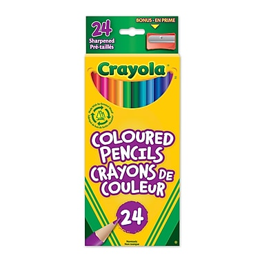 Crayola® Coloured Pencils, 24 per Box, 12/Pack