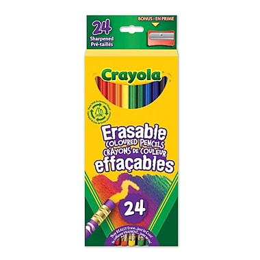 Crayola® Erasable Coloured Pencils, 24 per Box, 10/Pack