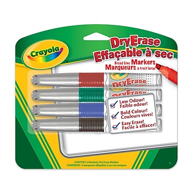 Crayola® Dry Erase Markers, Broad Line, 12/Pack
