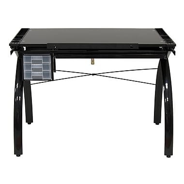 Studio Designs Futura 43.25''Lx24''D Rectangular Drafting Table, Solid Black