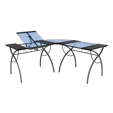Studio Designs 63.5''Lx63.5''D Rectangular Workstation Table, Blue