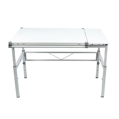 Studio Designs Graphix II 53.75''Lx31.25''D Rectangular Workstation Table, Metal