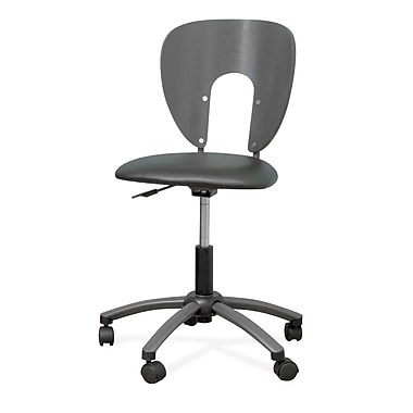 Studio Designs 10657 Futura Vinyl Armless Task Chair, Pewter