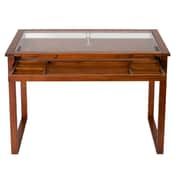 Studio Designs 42W x 24D Wood, Metal, and Glass Ponderosa Glass Topped Drafting Table
