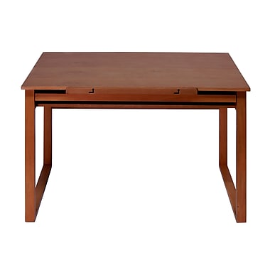 Studio Designs Ponderosa 42''Lx24''D Square Workstation Table, Wood/Veneer