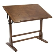 Studio Designs Vintage 42''Lx24''D Rectangular Drafting Table, Brown