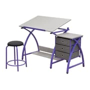 Studio Designs 24 metal Comet Table with Stool Purple