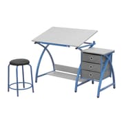 Studio Designs 24 metal Comet Table with Stool Blue