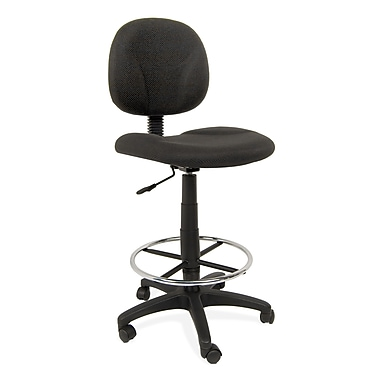 Studio Designs 18409 Ergo Pro Low-Back Fabric Armless Drafting Chair, Black