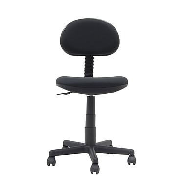 Studio Designs 18508 Fabric Armless Task Chair, Black