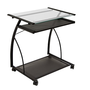 Calico Designs 27''Lx18.75''D Square Workstation Table, Black (50100)