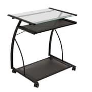 Calico Designs 27W x 18.75D Plastic L Computer Cart Black/Clear