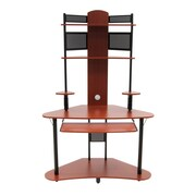 "Calico Designs 74"" x 47.25"" Wood Arch Tower, Cherry/Black"