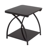 Calico Designs 22.25 Steel & Glass Futura End Table, Black