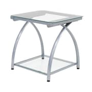 Calico Designs 22.25 Steel & Glass Futura End Table, Silver