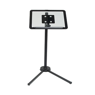 Calico Designs Plastic Calico Tech Laptop Stand, Black/Clear